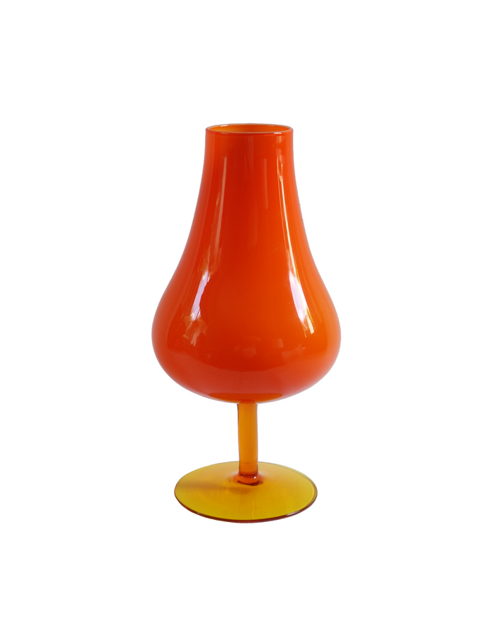 Empoli Orange Goblet Vase No. 2
