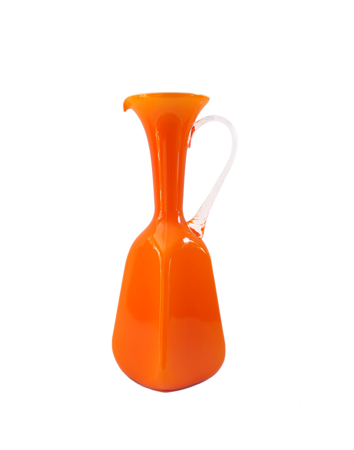 Empoli Orange Square Base Pitcher
