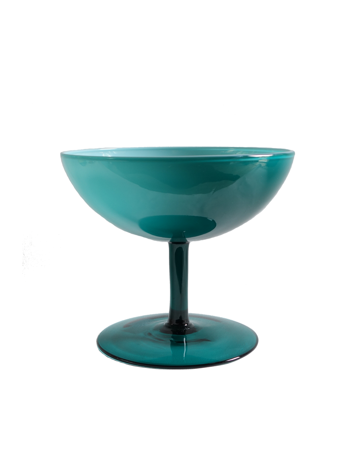 Teal Empoli Pedestal Candy Dish