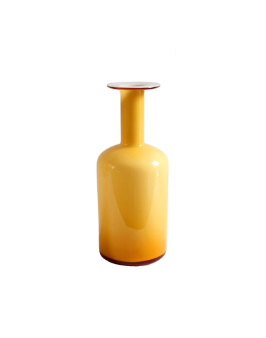 Holmegaard Gulvase Bottle in Amber