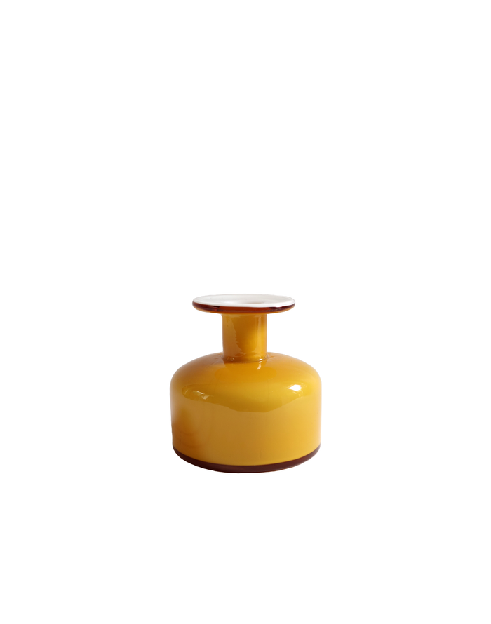 Holmegaard Gulvase Short Bottle in Amber No. 1