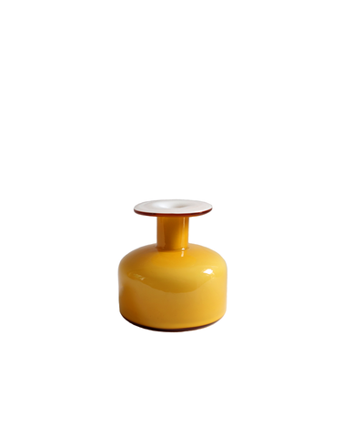 Holmegaard Gulvase Short Bottle in Amber No. 2