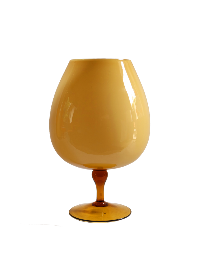 Italian Brandy Balloon in Butterscotch Amber No. 2