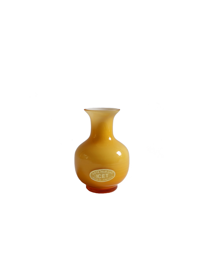 ICET Arte Murano Butterscotch Amber Bud Vase