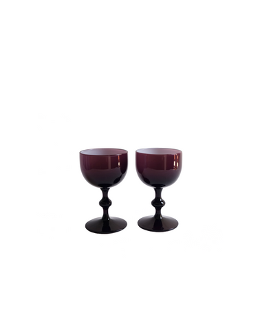 Empoli Amethyst Cased Cordial Glasses - Pair