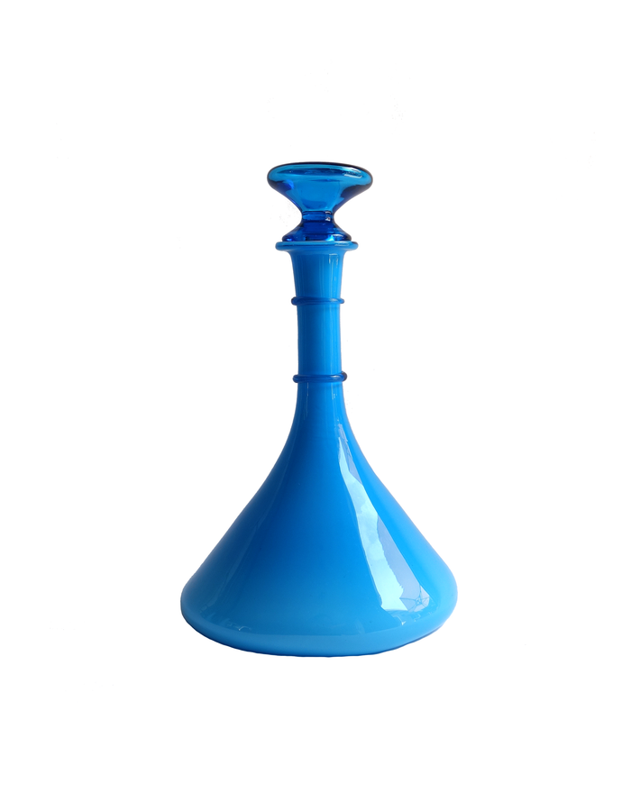 Italian Cased Blue Flask Decanter
