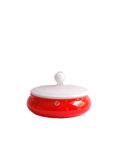 Empoli Red Two-Tone Apothecary Lidded Jar No. 2
