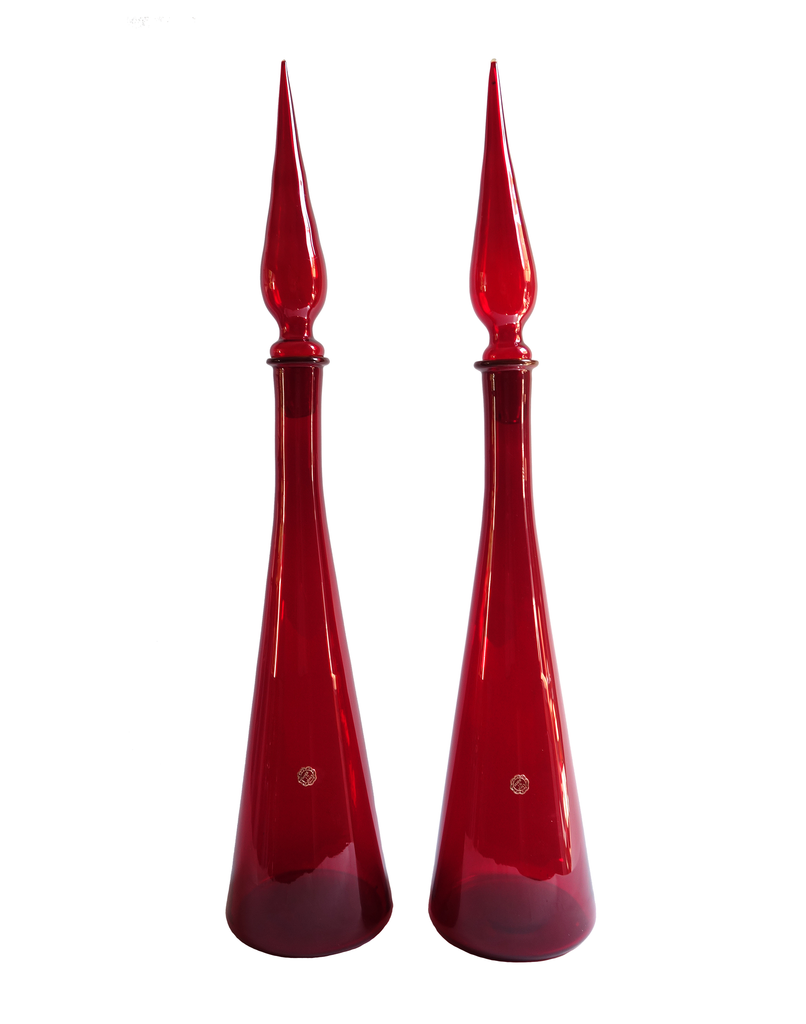 Italian Decanter in Red No. 2