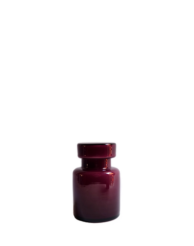 Murano Vistosi Amethyst Lidded Jar No. 2