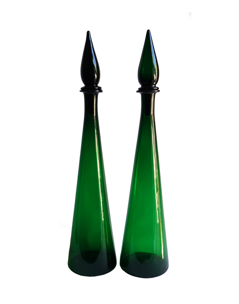 Italian Decanter in Green No. 1