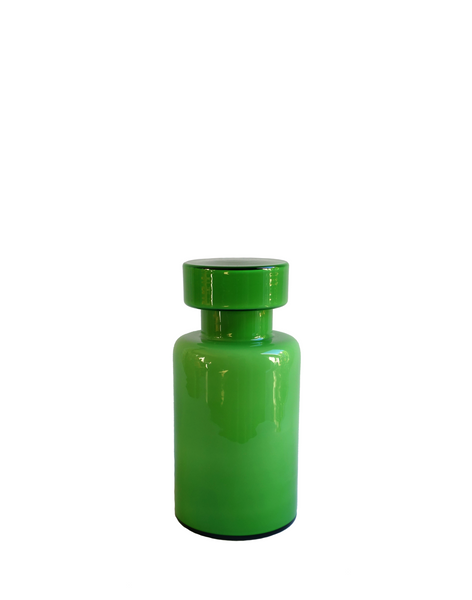 Murano Vistosi Green Lidded Jar
