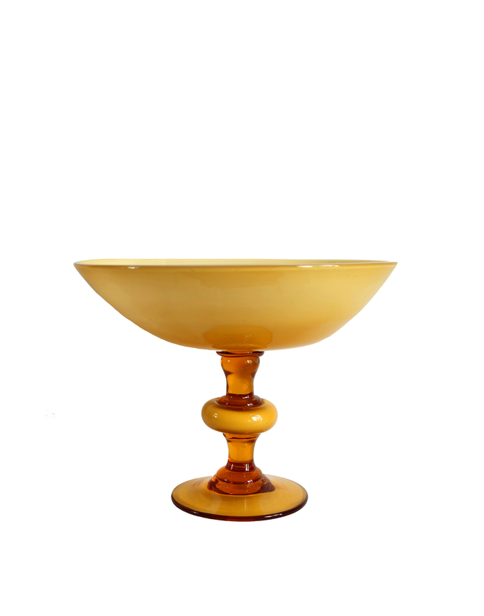 Empoli Amber Pedestal Compote Candy Dish
