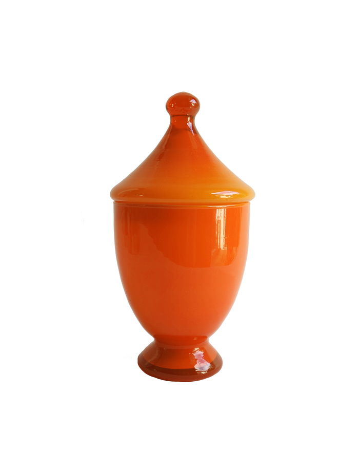 Empoli Orange Apothecary Lidded Jar