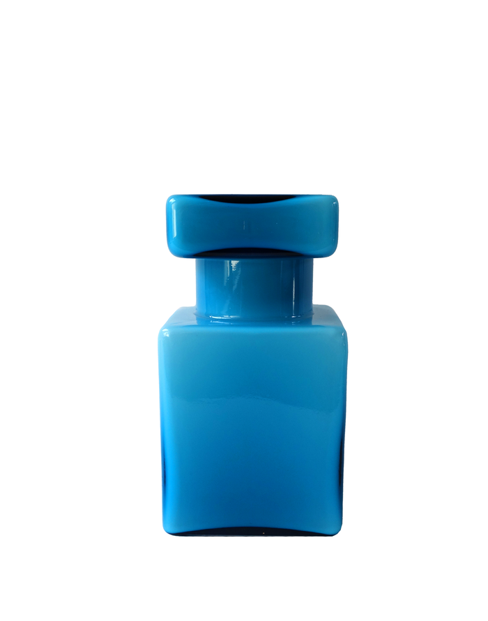 Empoli Blue Lidded Jar