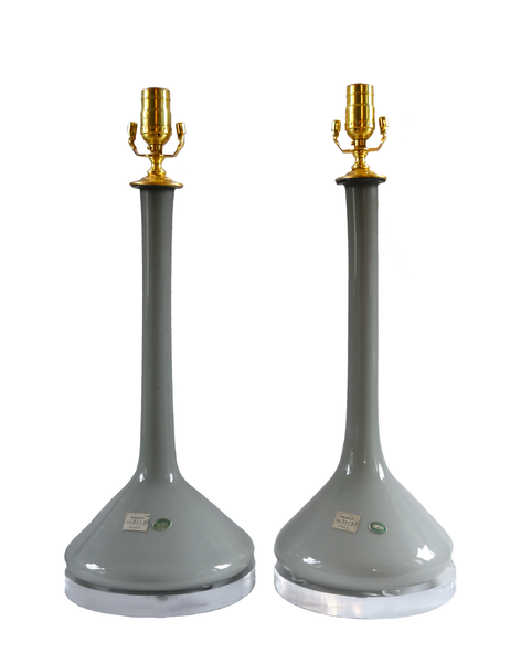 Empoli Grey Table Lamps - Pair