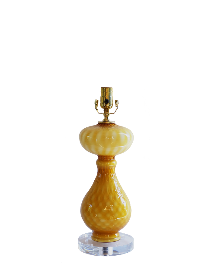 Empoli Amber Table Lamp