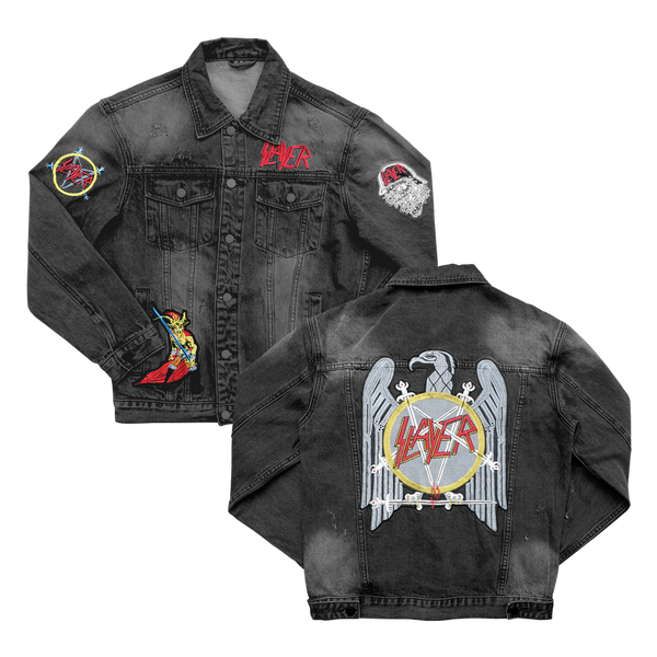 Custom Black Denim Jacket