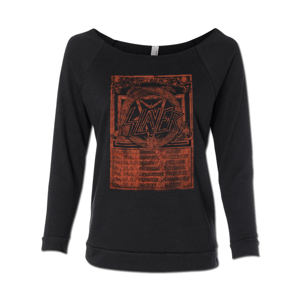 EUROPE 85 RED ROUGH EDGE WOMEN'S SWEATSHIRT