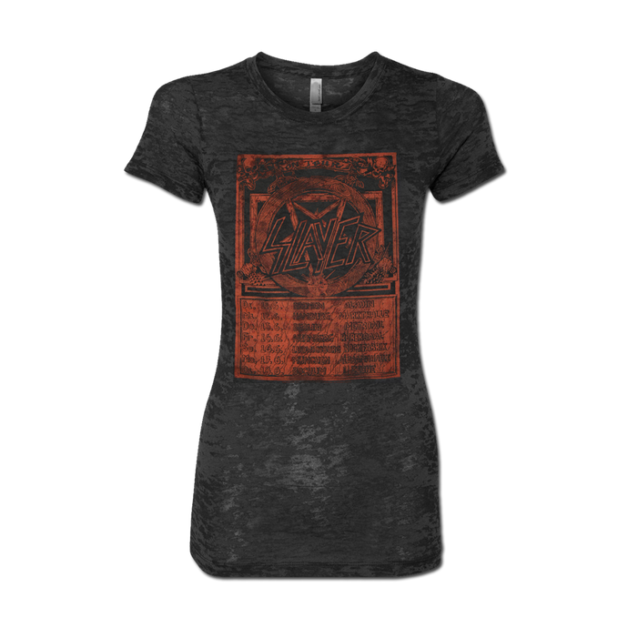 EUROPE RED 85 BURNOUT WOMEN'S TEE