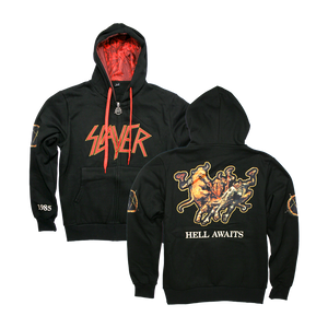 Hell Awaits Cut and Sew Hoodie
