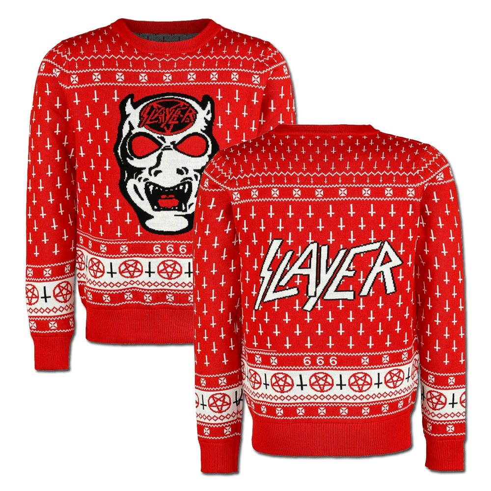 f936a5473 White Demon Holiday Sweater | Xmas in July | Slayer Store