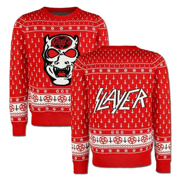 White Demon Holiday Sweater