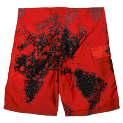 World Painted Blood Board Shorts