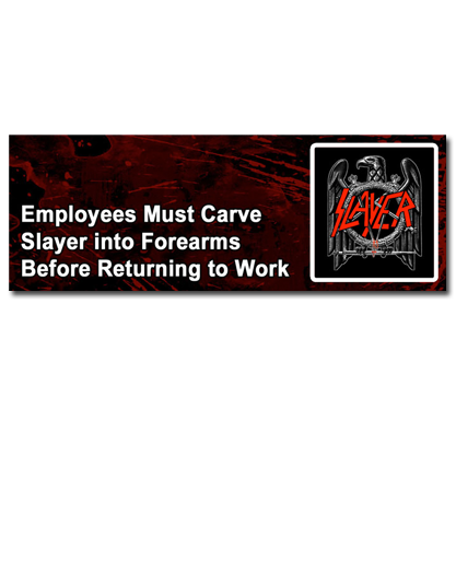 Slayer Employees Sticker