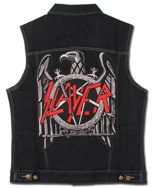 BLACK EAGLE DENIM VEST - X-Large