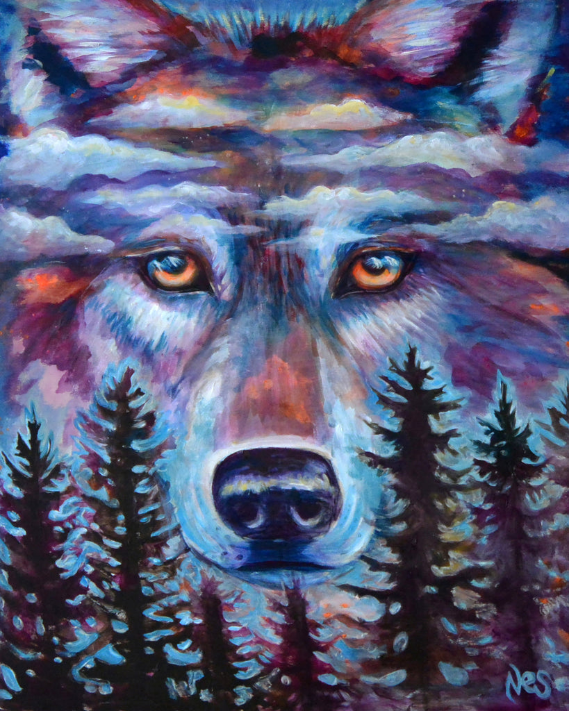 Spirit Wolf on Canvas