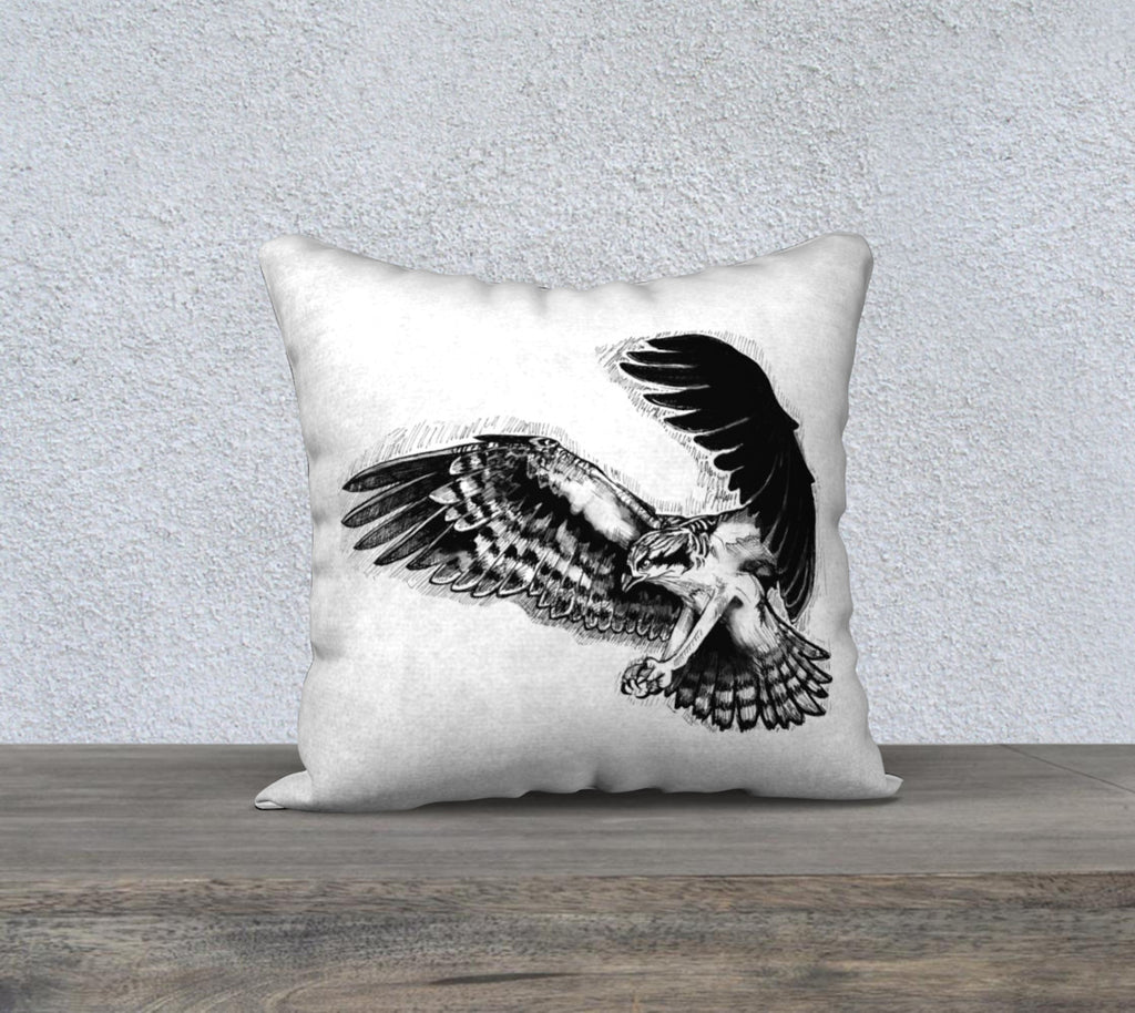"Osprey Pillow case ""18"" by 18"""
