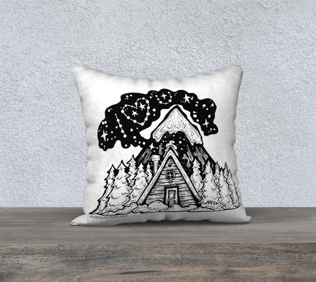 "Mountains Love You Pillow case ""18"" by 18"""