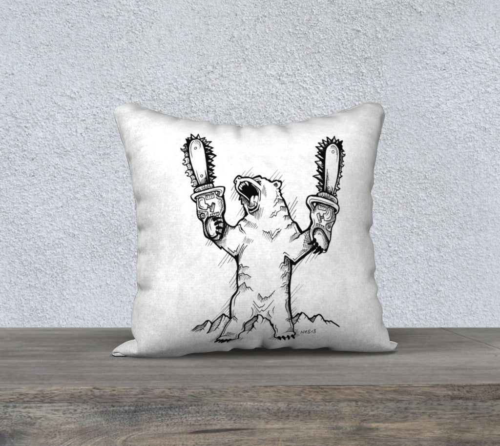 "Mountain Bear Pillow case ""18"" by 18"""