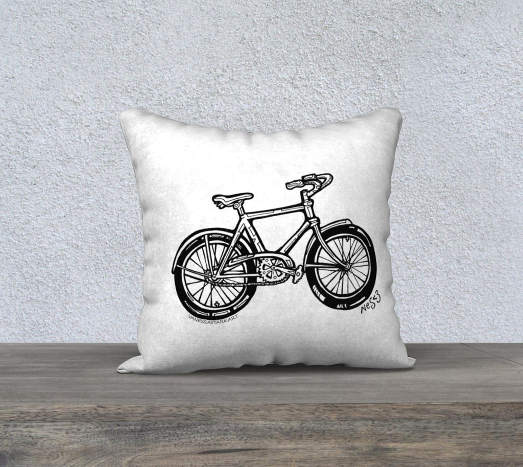 "My Bike Pillow case ""18"" by 18"""