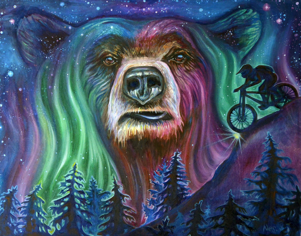 "Aurora BEARealis 11"" by 14"""