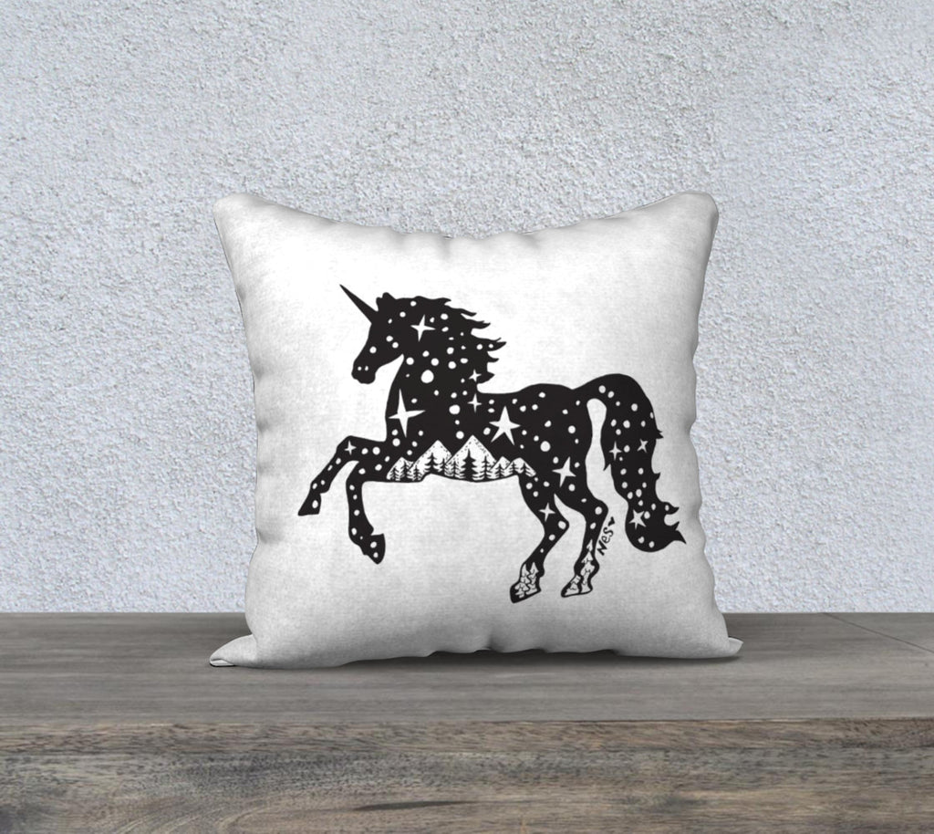 "Mountain Unicorn Pillow case ""18"" by 18"""