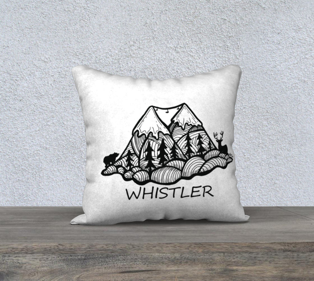 "P2P Whistler Pillow ""18"" by 18"""