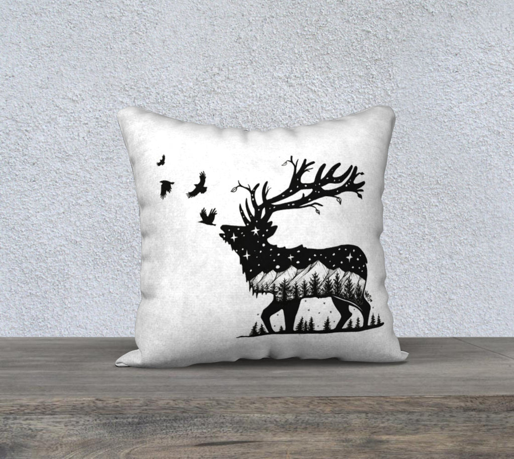 "Mountain Elk Pillow case ""18"" by 18"""