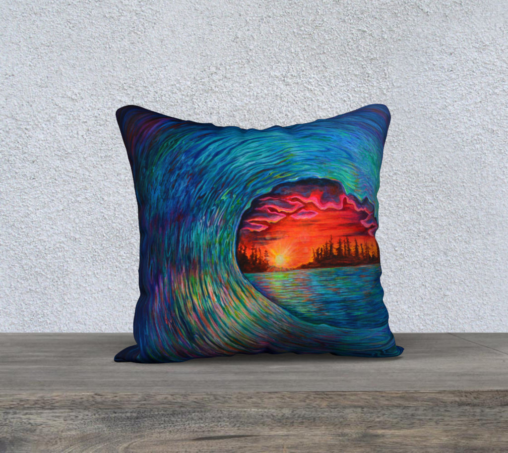 "Dreams in Colour pillow case 18"" by 18"""