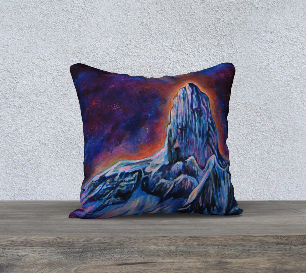 "The Black Tusk Pillow case ""18"" by 18"""