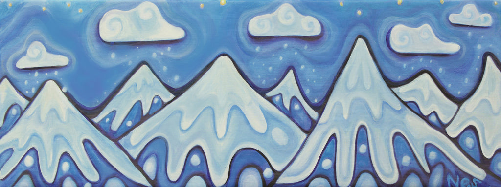 Mountain Dreams on canvas