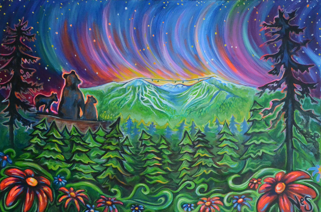 Whistler Night Lights on canvas