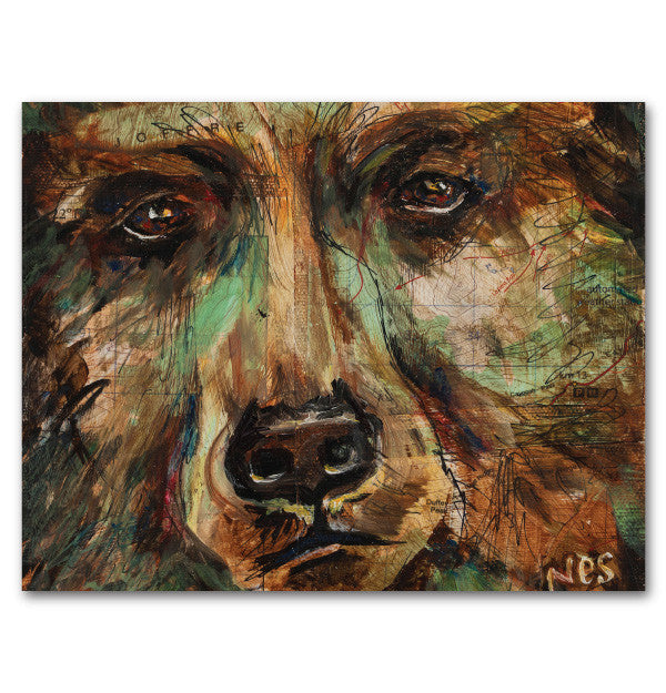 Joffre Bear on Canvas