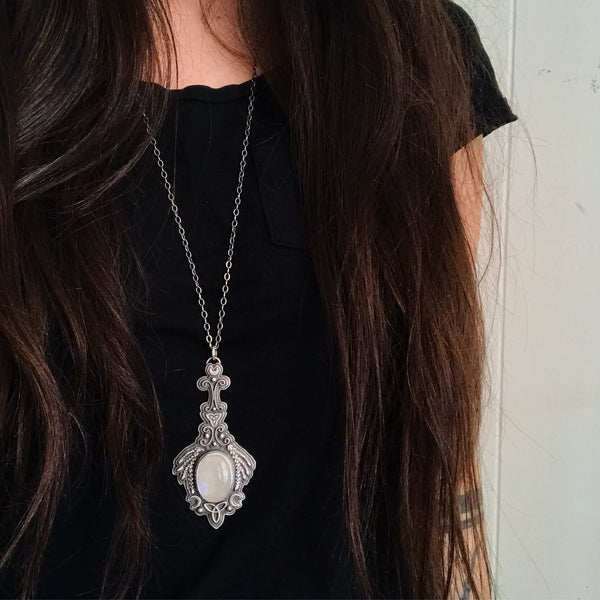 Cailleach's Mirror Pendant ✦ 30 Inch Chain ✦ The Age of the Cailleach Collection