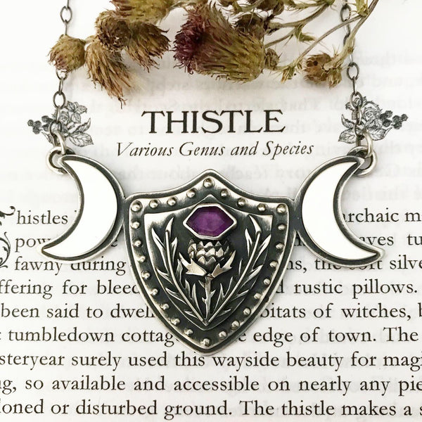 Thistle Armor Pendant ✦ 17 3/4 Inches ✦ The Thistle Armory Collection