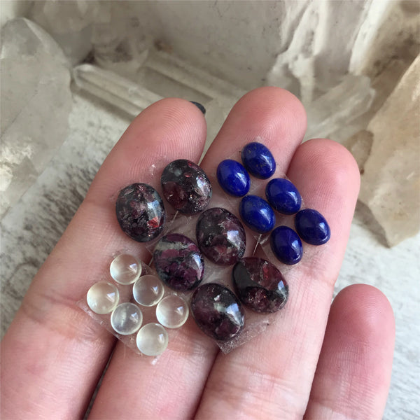 Mixed Cabochon Lot - Set of 18