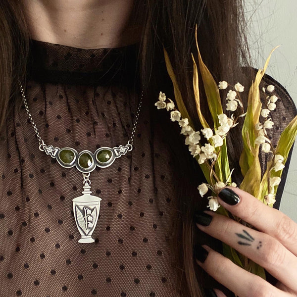 Lily of the Valley Apothecary Necklace ✦ 18 Inches ✦ Lily of the Valley Collection