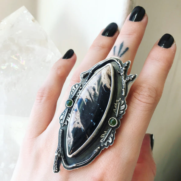Forest Magic Ring - Size just under 6 3/4 - Dark Pines Collection