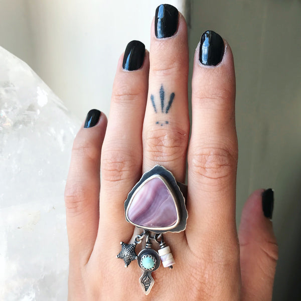20% OFF SALE! Sea Witch Charm Ring - Size 8