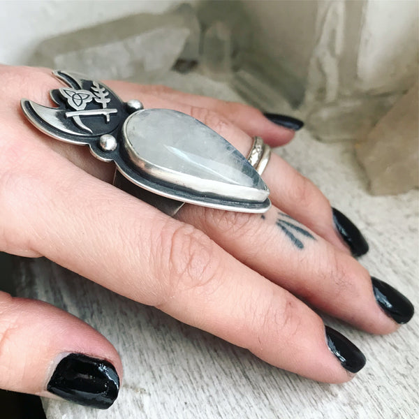 Cailleach's Sceptre Ring ✦ Size just over 6 ✦ The Age of the Cailleach Collection